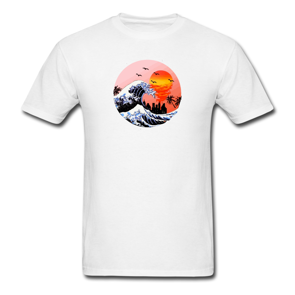 Load image into Gallery viewer, Jalen Mekai Wave Tee - white