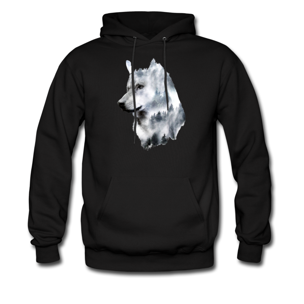 Load image into Gallery viewer, Hannah Pride Wolf Hoodie - black