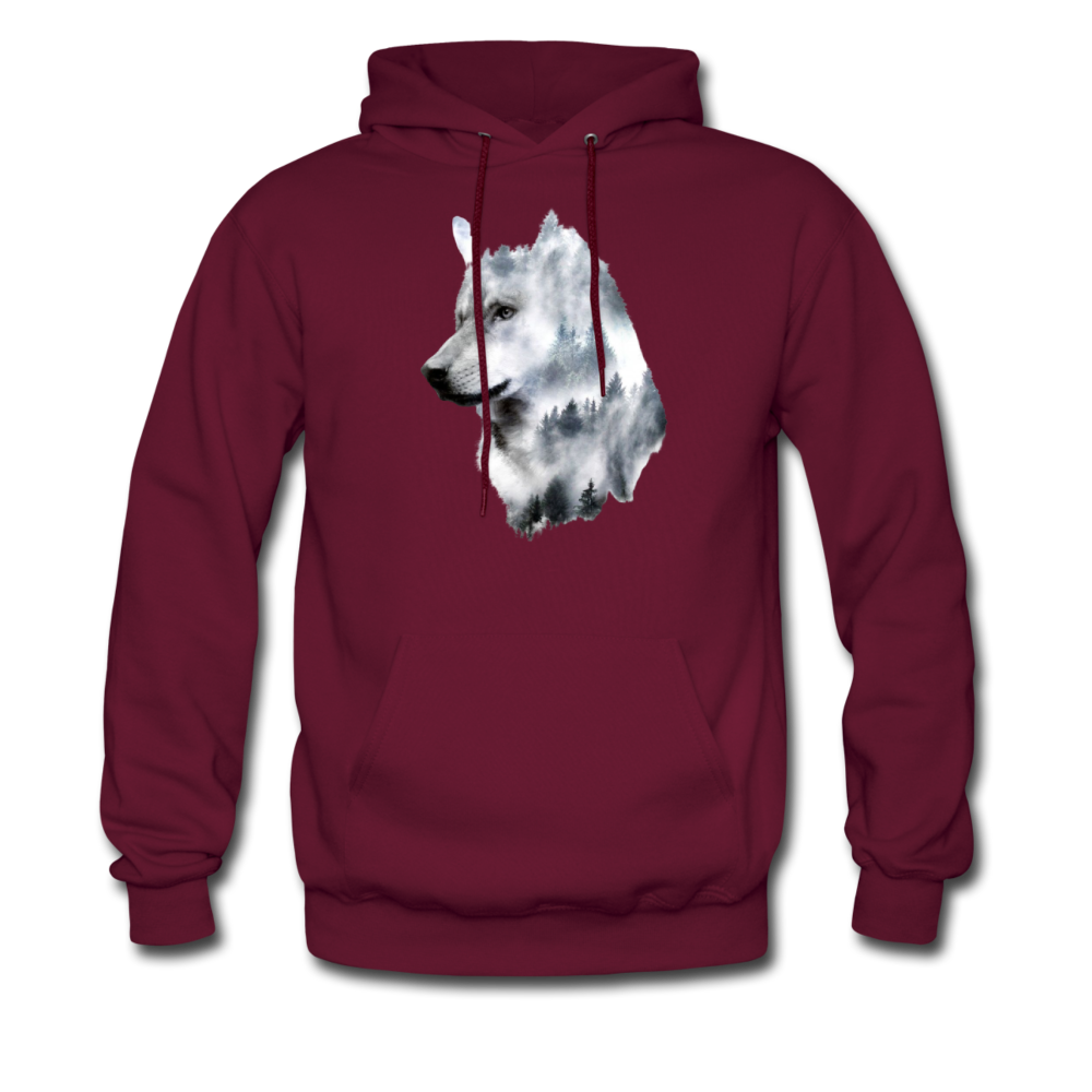 Load image into Gallery viewer, Hannah Pride Wolf Hoodie - burgundy