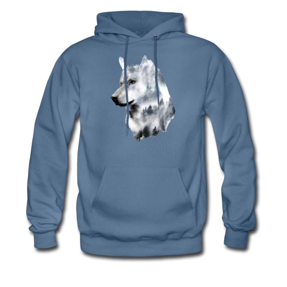 Load image into Gallery viewer, Hannah Pride Wolf Hoodie - denim blue