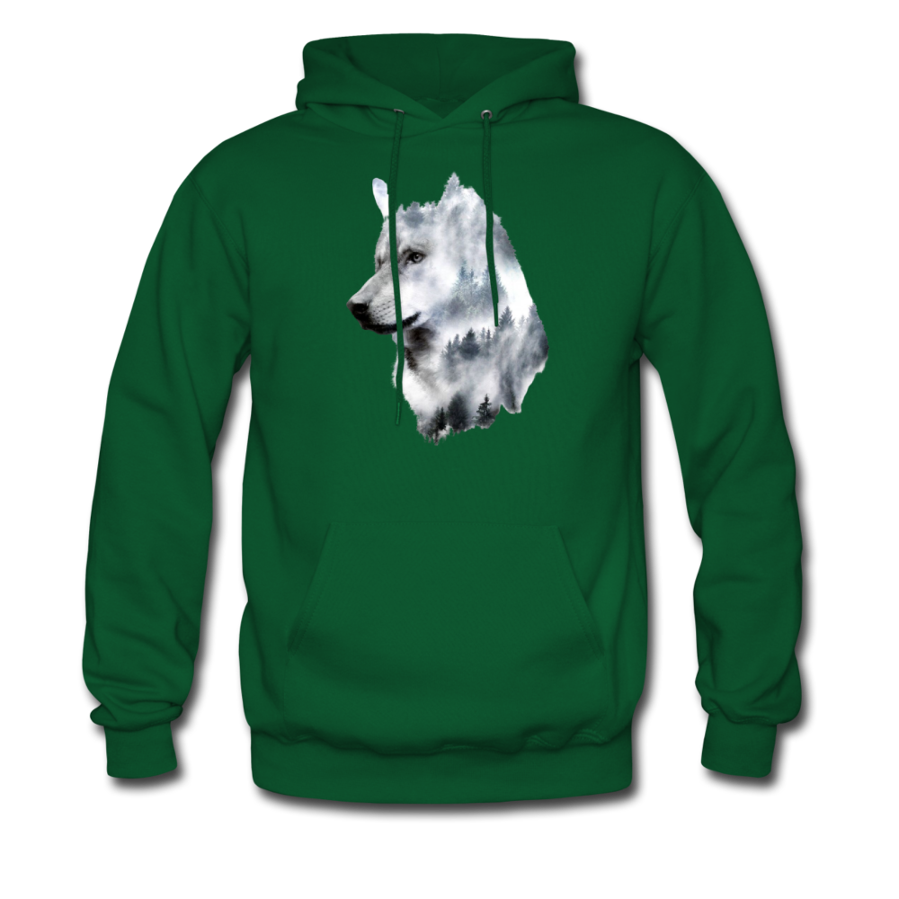 Load image into Gallery viewer, Hannah Pride Wolf Hoodie - forest green