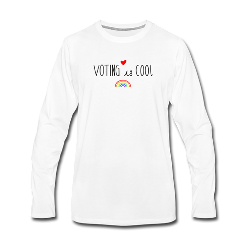 Voting is Cool - white