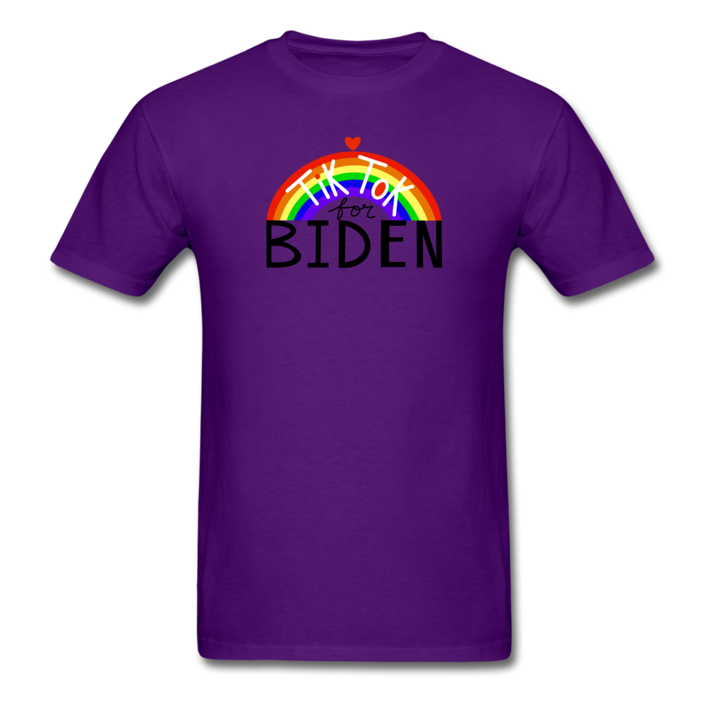 Load image into Gallery viewer, TikTok for Biden (Front/Back) - purple