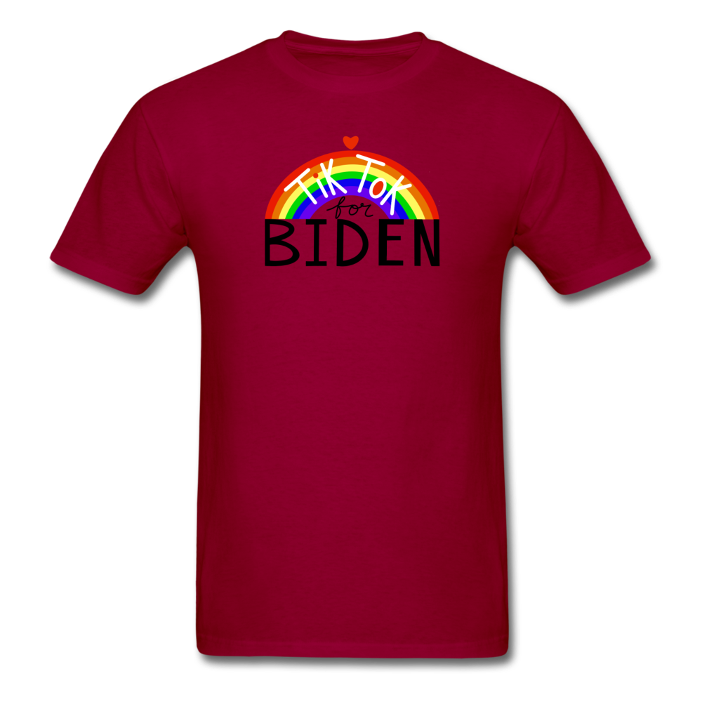 Load image into Gallery viewer, TikTok for Biden (Front/Back) - dark red