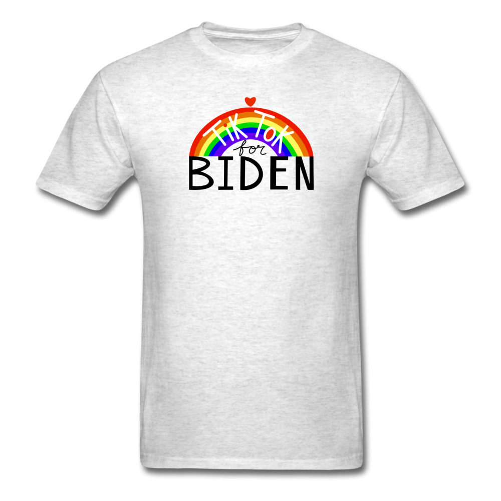Load image into Gallery viewer, TikTok for Biden (Front/Back) - light heather gray