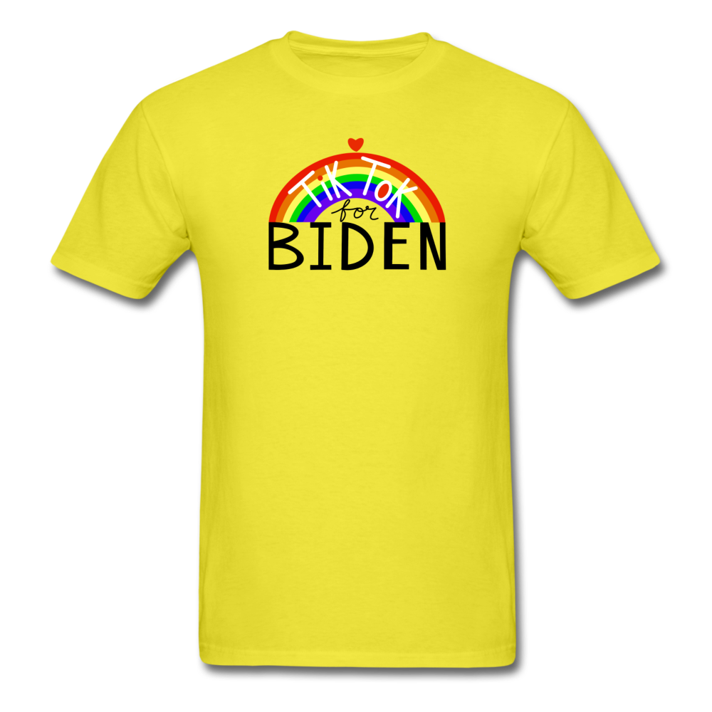 Load image into Gallery viewer, TikTok for Biden (Front/Back) - yellow