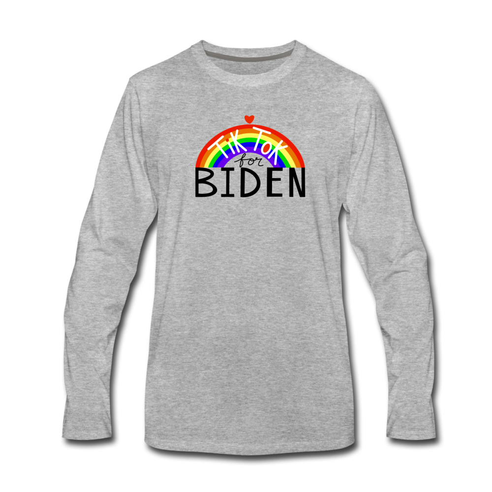 Load image into Gallery viewer, TikTok for Biden (Front/Back) - heather gray