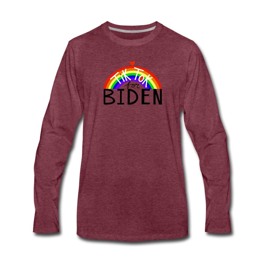 Load image into Gallery viewer, TikTok for Biden (Front/Back) - heather burgundy