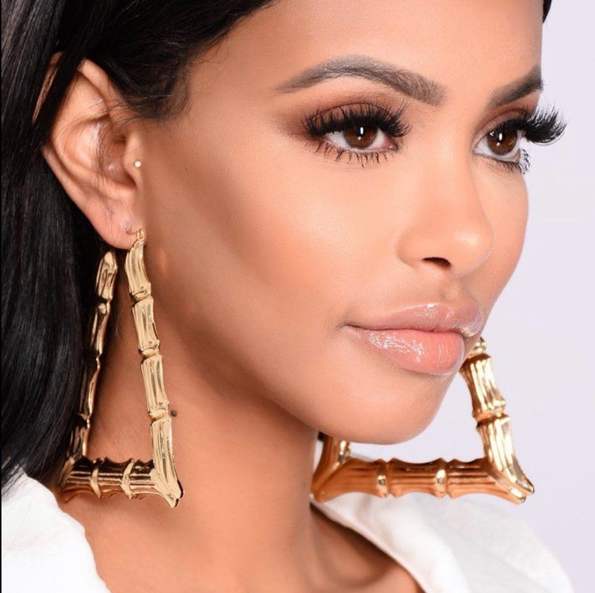 Triangle Bamboo Earrings