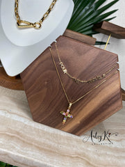 Colorful Cross Necklace