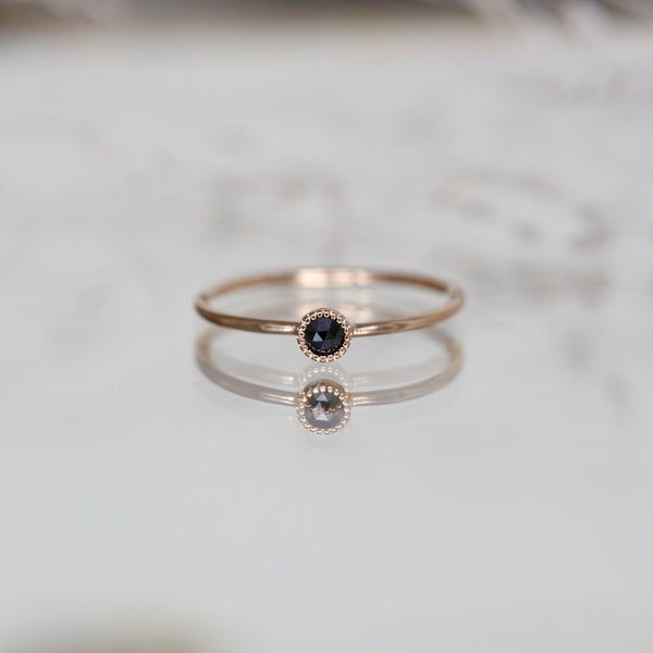 Solitaire Mini Love Ring S Diamant noir