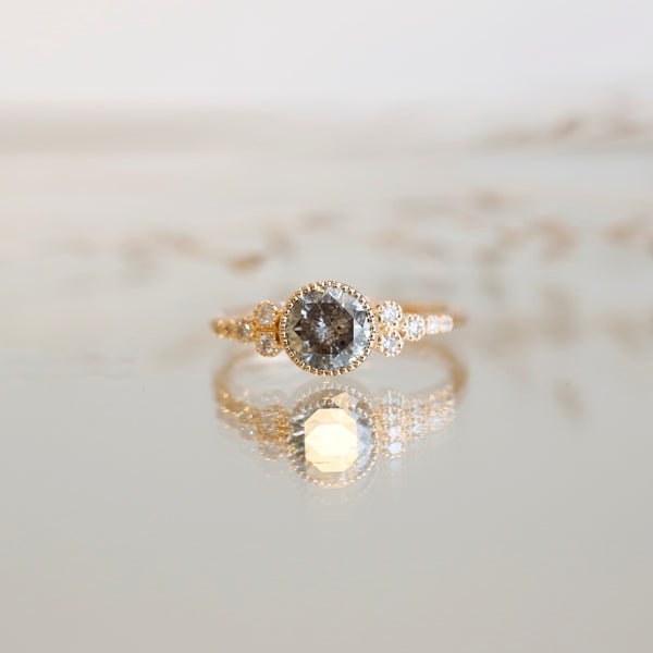 Bague Iris XL Diamant Salt & Pepper