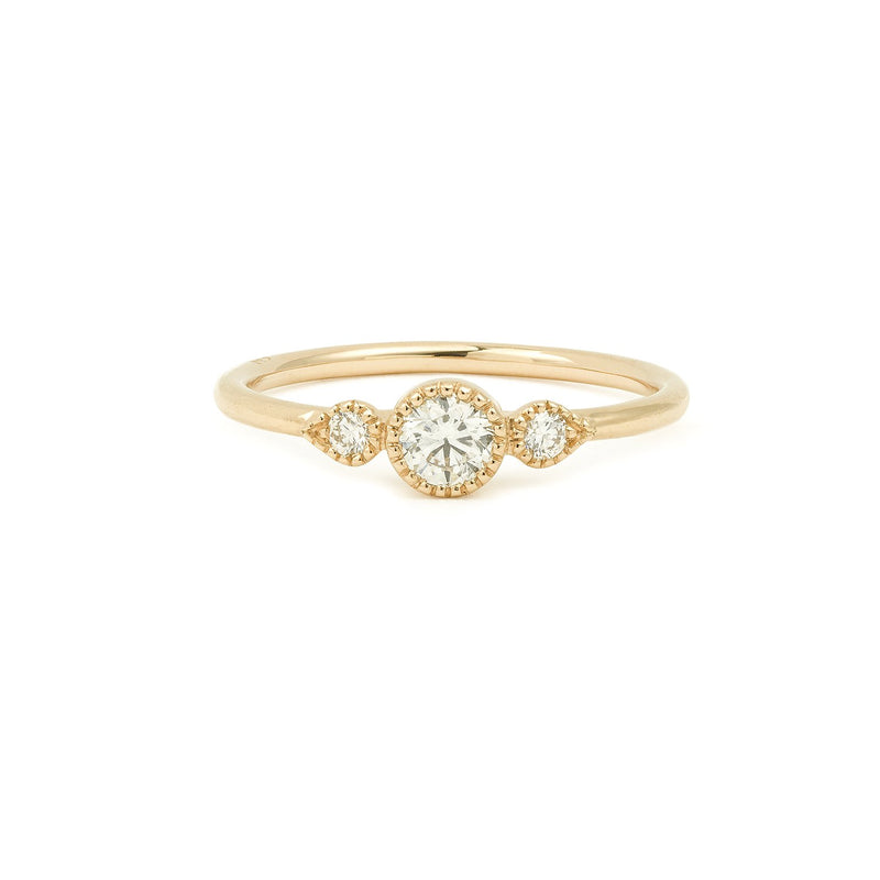 Bague Amour Céleste M diamants brillants Myrtille Beck Paris
