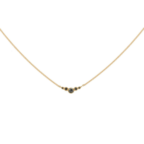 Collier - Collier Petit Amour Céleste Diamants noirs or rose, Myrtille Beck, collier fin diamants, collier de mariage, Myrtille Beck Paris, Collier de créateur, collier or et diamants
