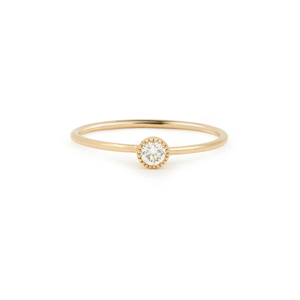 Soltaire Love Myrtille Beck , solitaire diamant 0.10ct or rose, solitiaire de créateur Myrtille Beck paris