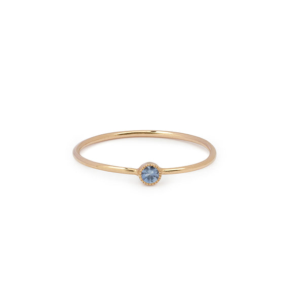 Solitaire Mini Love Ring S Saphir bleu