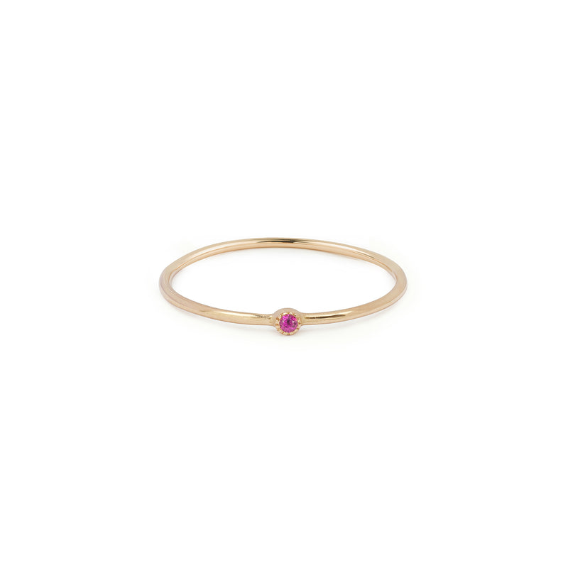Solitaire Mini Love Ring XS Rubis framboise