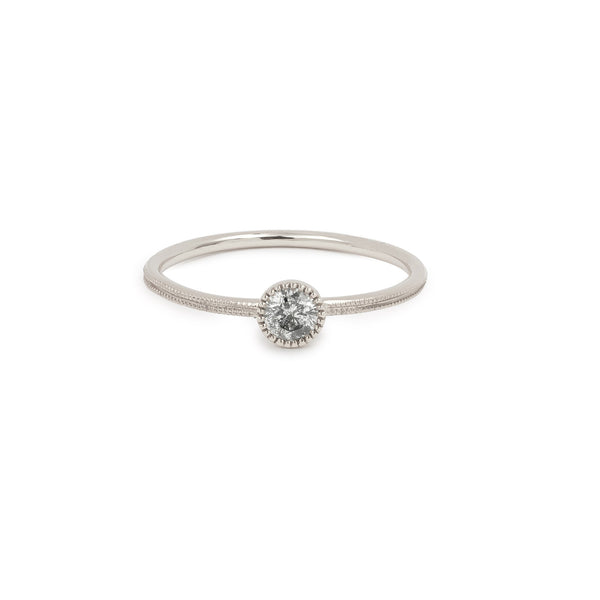 Solitaire Double Milgrain S Diamant Salt & Pepper