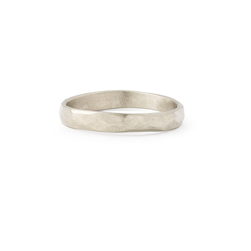 Bague - Alliance Juno L Or Gris - Alliance de créateur piour homme Myrtille Beck Paris