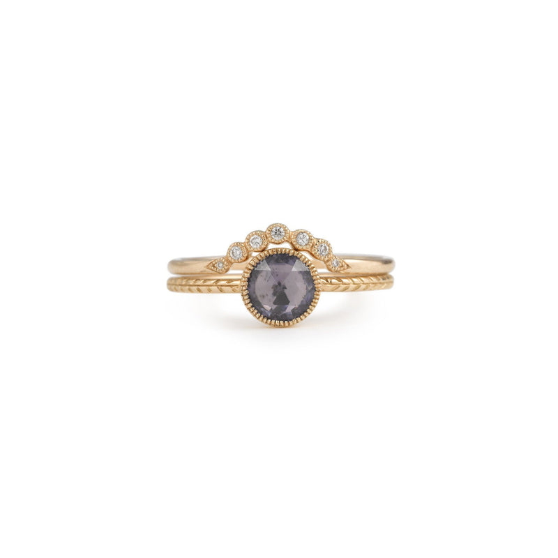 Bague - Alliance Clair De Lune, alliance de créateur, alliance or et diamant style vintage, alliance Myrtille Beck Paris