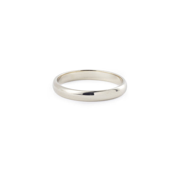 Bague - Alliance Demi-Jonc 3mm or gris
