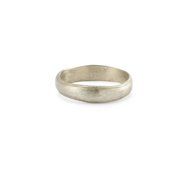 Bague - Alliance Juno XL Or Gris - Alliance de créateur piour homme Myrtille Beck Paris