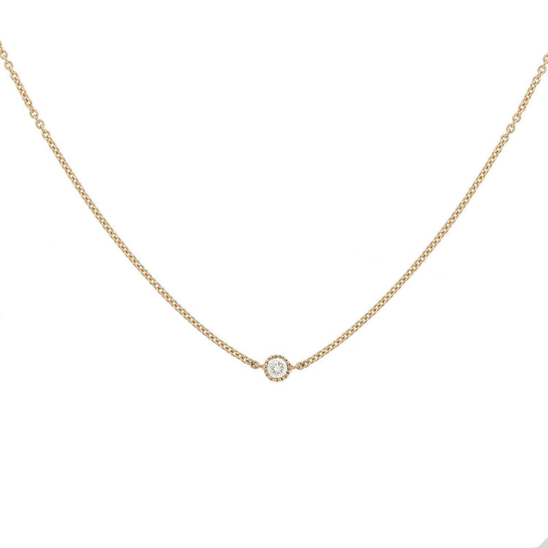 Collier - Collier Love S fixe or rose, Myrtille Beck, collier fin diamant, collier de mariage, Myrtille Beck Paris, Collier de créateur, collier or et diamants