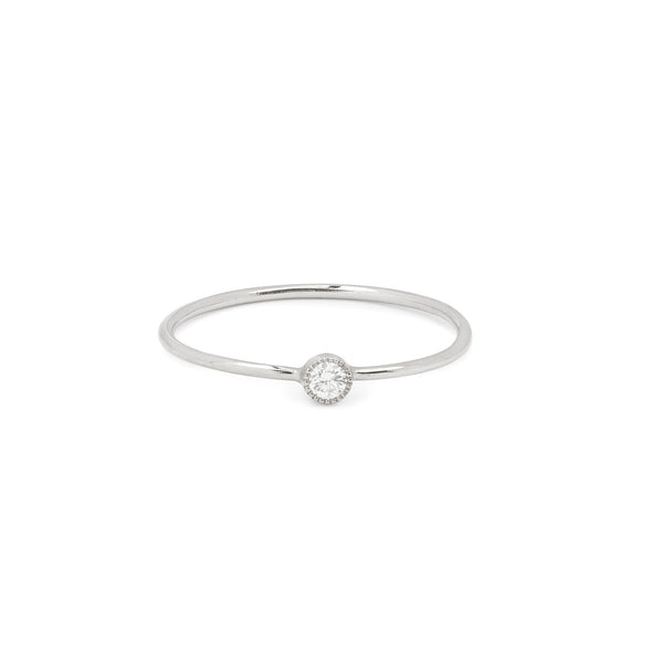 Solitaire Mini Love Ring S Diamant blanc