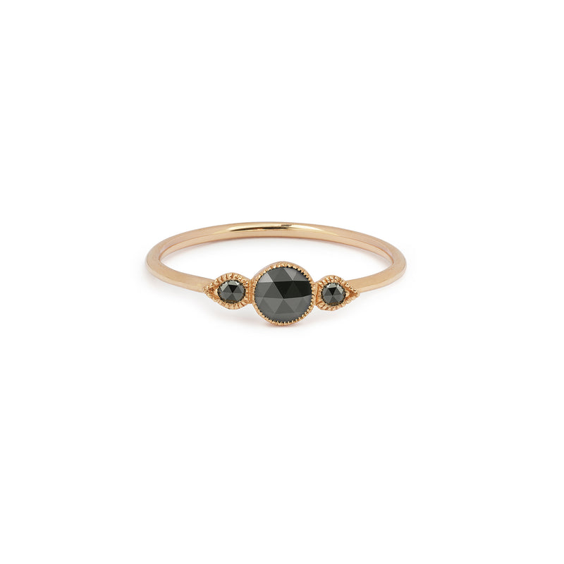 Bague Amour Céleste M Diamants Noirs