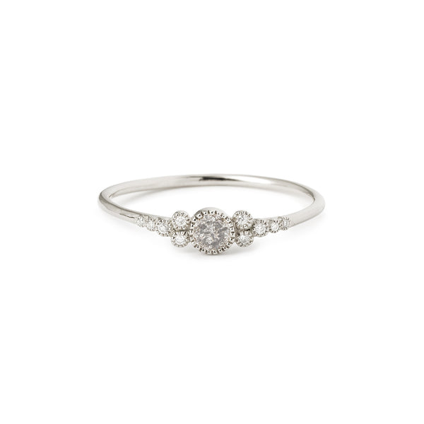 Bague Iris S Diamant Salt & Pepper