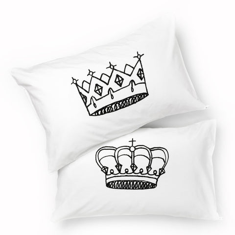 King & Queen Pillowcase Set