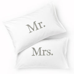 Mr & Mrs Pillowcase Set / SLATE