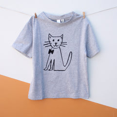 CAT Kid's T-Shirt - Grey Marle
