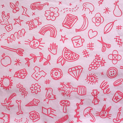 Childrens Face Mask - Pink 'Icons'