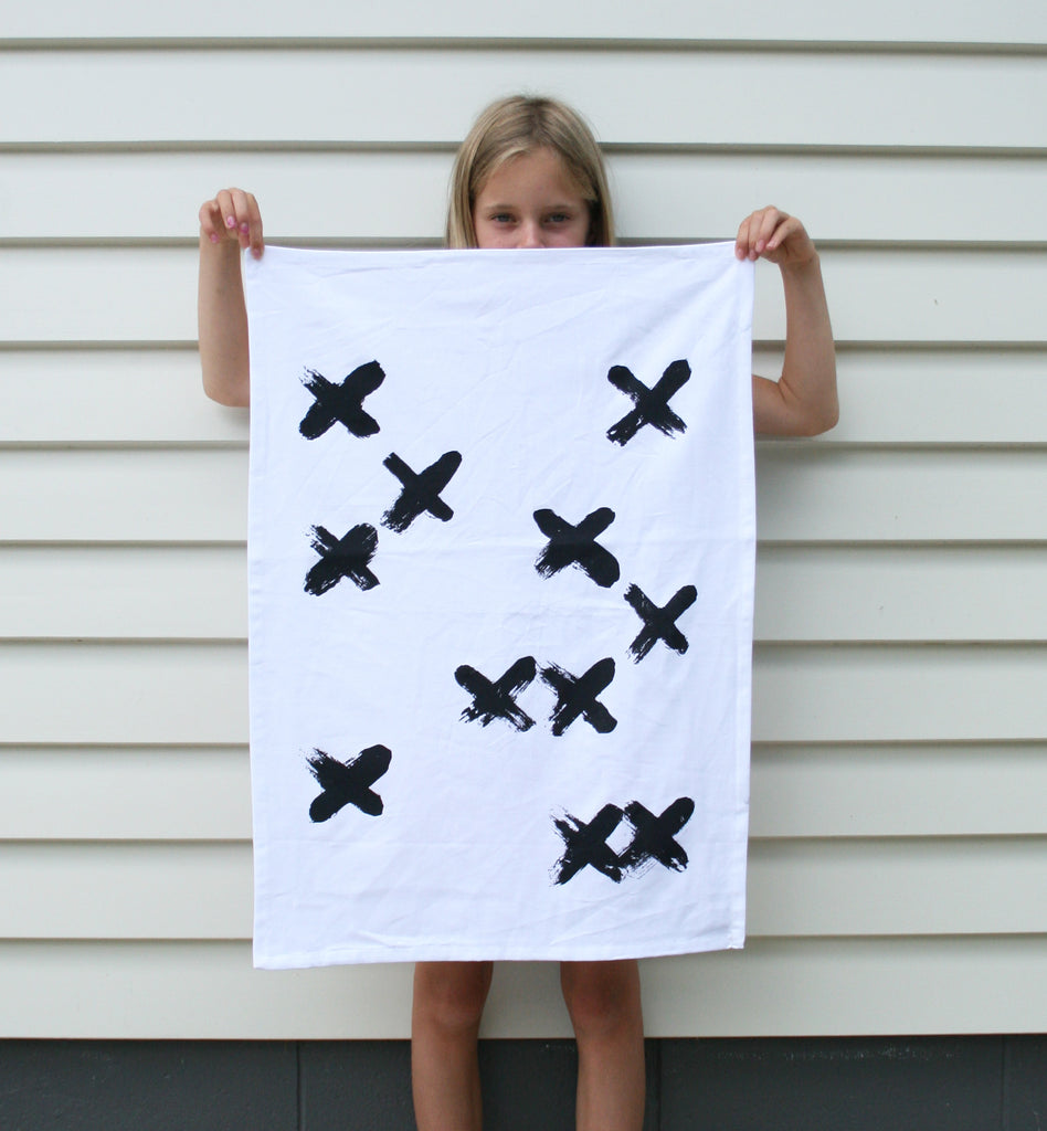 KISS CROSS Tea Towel