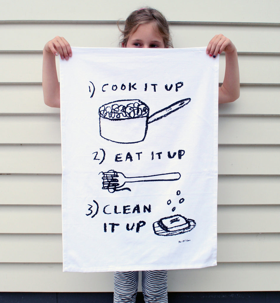 COOK, EAT, CLEAN Tea Towel