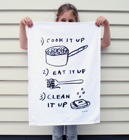 COOK EAT CLEAN Teatowel