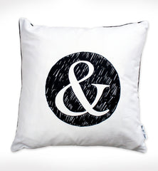 '&' Cushion - Monochrome