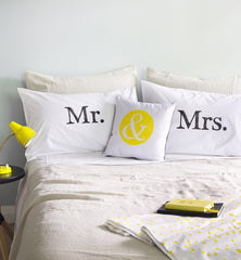 Mr & Mrs Pillowcase Set / BLACK