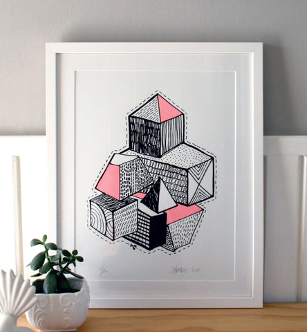 Blocks - Limited Edition Screen Print