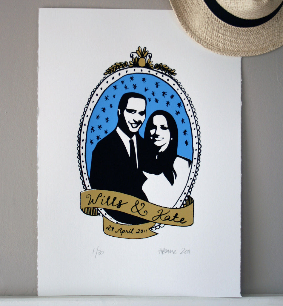 SALE / Wills & Kate Commemorative Print