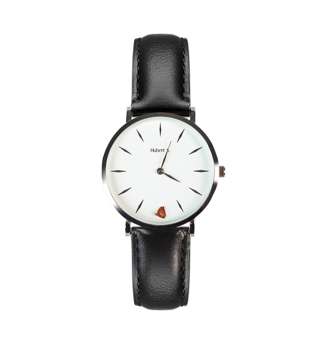 Unisex watch with amber stone SILVER