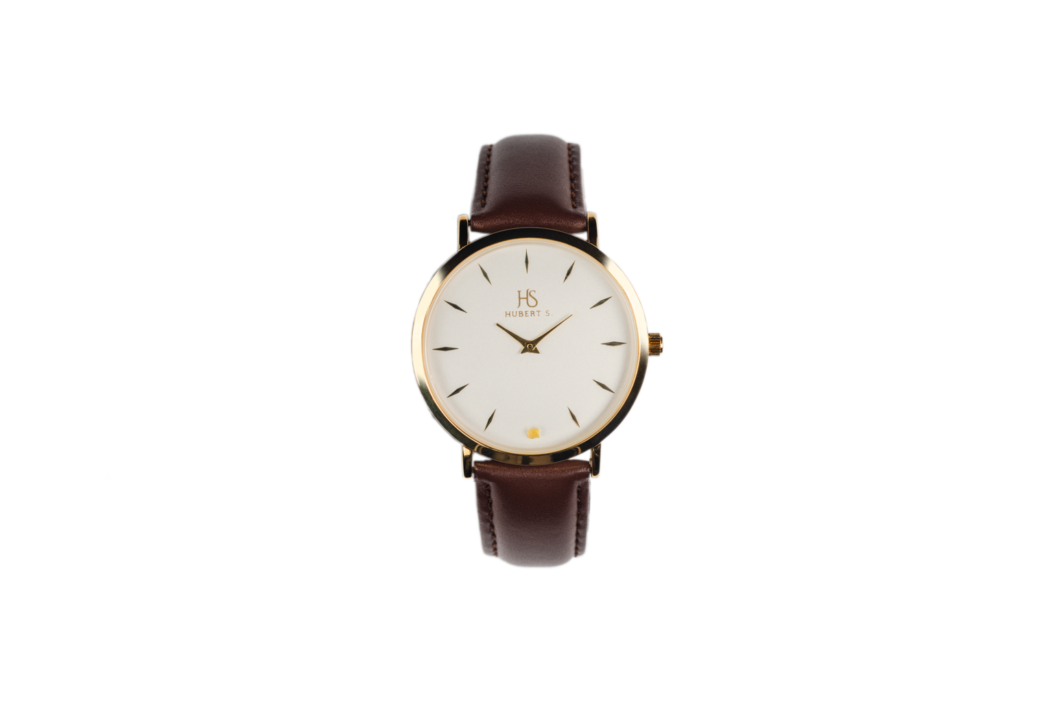 Unisex watch with amber stone GOLDEN