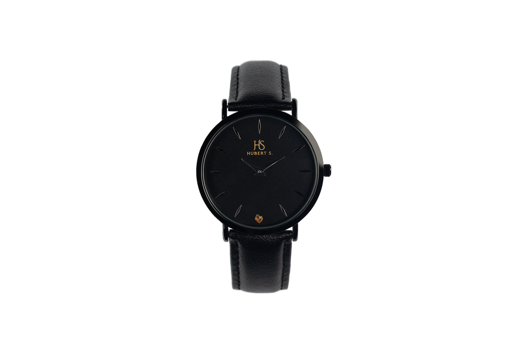 Unisex watch with amber stone DARK