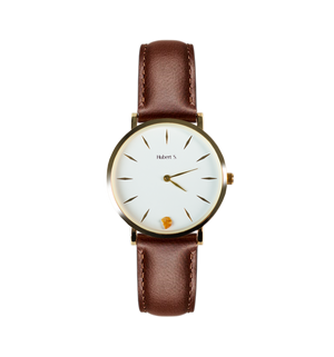 Unisex watch with amber stone PERSONALIZE