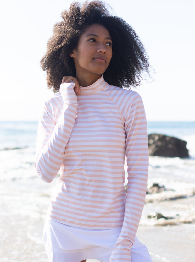 WOMEN'S PULLOVER WITH RAGLAN SLEEVES - SUMMER BREEZE STRIPE