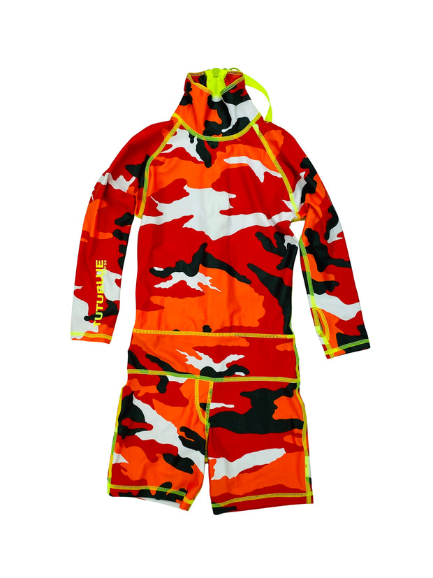 BOY'S SHORT SWIMSUIT - RED CAMO *BOYS NEW PRODUCT