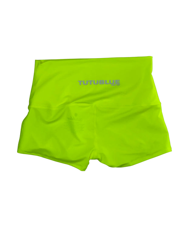 WOMENS SHORT SHORTS - NEON YELLOW