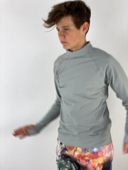 MEN'S PULLOVER RASH GUARD - SILVER