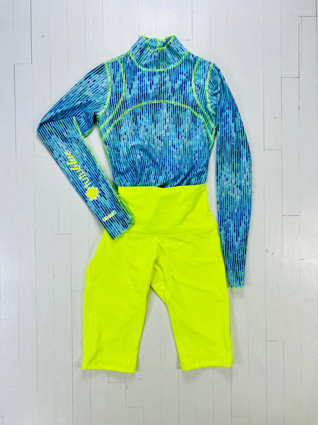 HIKE + BIKE - BLUE MOSAIC + NEON YELLOW